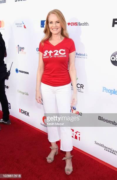 Marg Helgenberger attends the sixth biennial Stand Up To Cancer telecast at the Barkar Hangar on Friday, September 7, 2018 in Santa Monica,...