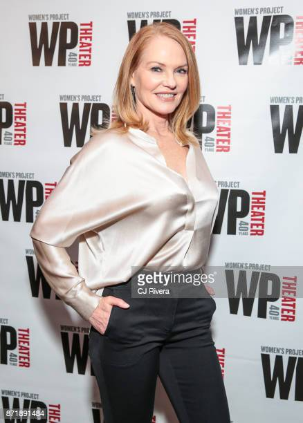 Marg Helgenberger attends 'What We're Up Against' opening night at WP Theater on November 8 2017 in New York City