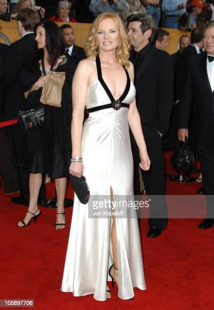 Marg Helgenberger during 12th Annual Screen Actors Guild Awards Arrivals at Shrine Auditorium in Los Angeles CA United States