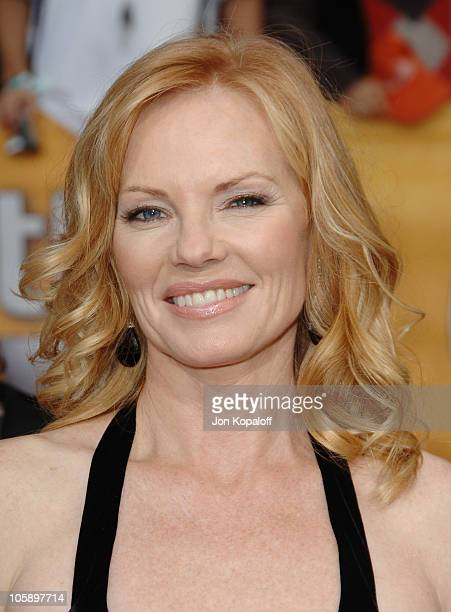 Marg Helgenberger during 12th Annual Screen Actors Guild Awards - Arrivals at Shrine Auditorium in Los Angeles, CA, United States.