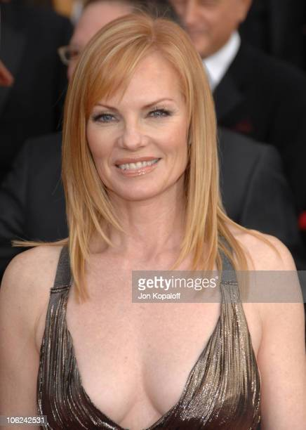 Marg Helgenberger during 13th Annual Screen Actors Guild Awards Arrivals at Shrine Auditorium in Los Angeles California United States