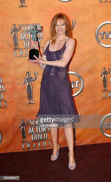 Marg Helgenberger during 2005 Screen Actors Guild Awards Press Room at The Shrine in Los Angeles California United States