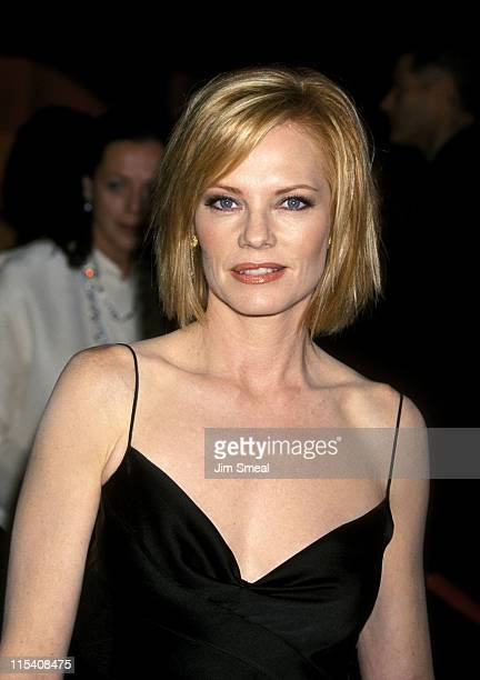 Marg Helgenberger during 53rd Annual Primetime Emmy Awards Arrivals at Shubert Theater in Century City California United States