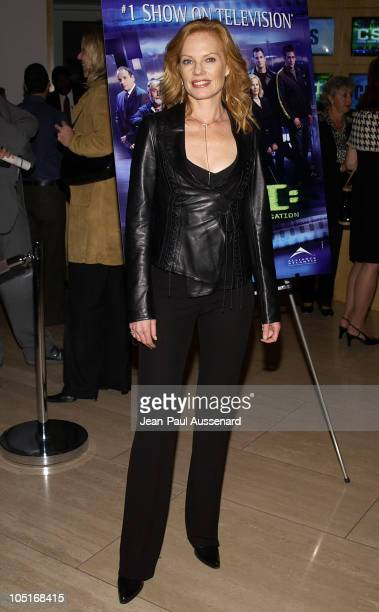 Marg Helgenberger during CSI Crime Scene Investigation Fourth Season Premiere Screening at Museum of Television and Radio in Beverly Hills California...