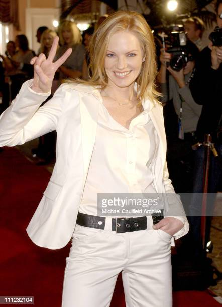 Marg Helgenberger during InStyle Sneak Peek at Red Carpet Fashion for the 2003 Awards Season at Beverly Hills Hotel in Beverly Hills California...
