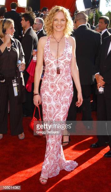 Marg Helgenberger during The 54th Annual Primetime Emmy Awards Arrivals at The Shrine Auditorium in Los Angeles California United States
