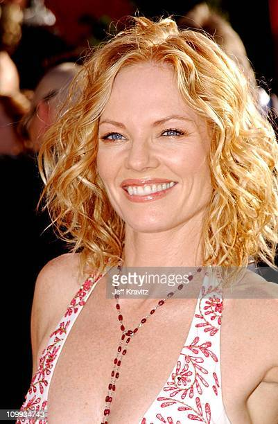 Marg Helgenberger during The 54th Annual Primetime Emmy Awards - Arrivals at The Shrine Auditiorium in Los Angeles, California, United States.