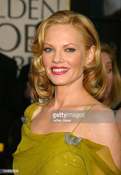 Marg Helgenberger during The 60th Annual Golden Globe Awards - Arrivals at The Beverly Hilton Hotel in Beverly Hills, California, United States.