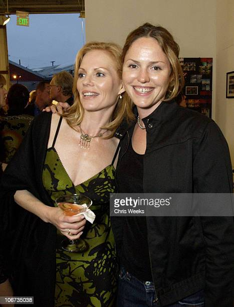 Marg Helgenberger Jorja Fox during 'Life's Not Still' Benefiting the Huckleberry Fund at Bergamot Station in Santa Monica California United States