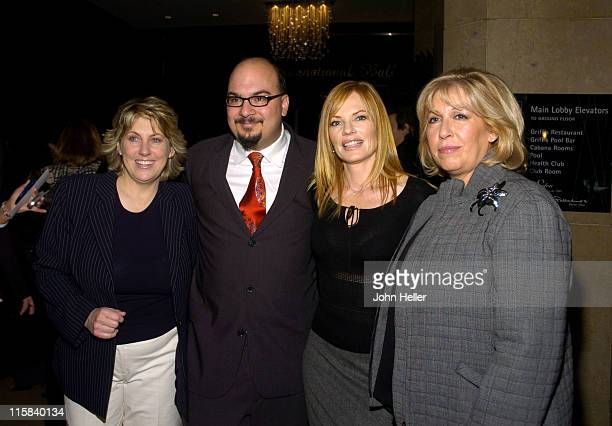 Marg Helgenberger with Ann Donahue Anthony E Zuiker and Carol Mendelsohn Television Showman of the Year Award Winners