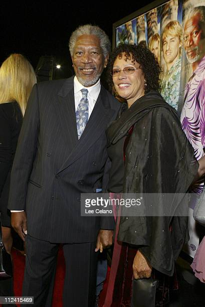 """Margan Freeman and wife Myrna Colley-Lee during """"The Big Bounce"""" - Los Angeles Premiere - Red Carpet at Mann Village Westwood in Westwood,..."""