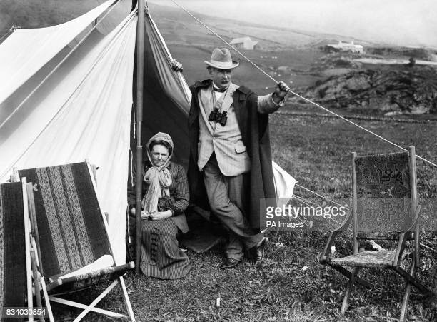 Margaret and David Lloyd George at the base of Moel Hebog north Wales