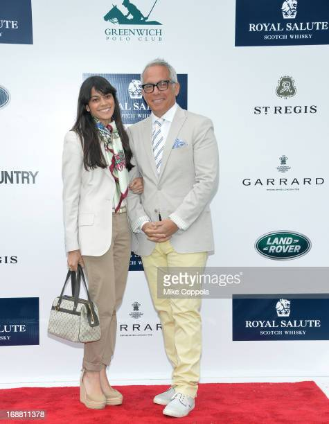 Margaret Anne Williams and Chef Geoffrey Zakarian attend the The Sentebale Royal Salute Polo Cup at The Greenwich Polo Club on Wednesday 15th May The...