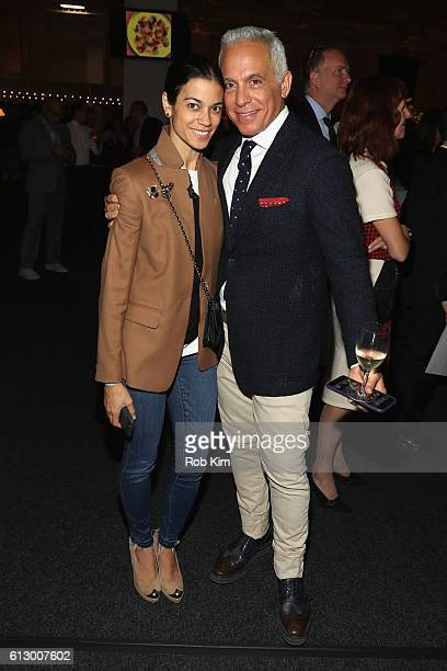 Margaret Anne Williams and Chef Geoffrey Zakarian of The Lambs Club attend City Harvest's 22nd Annual Bid Against Hunger at Pier 36 on October 6 2016...