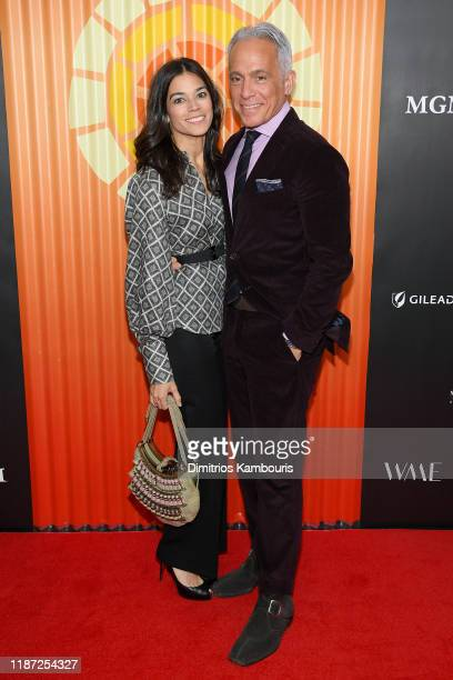 Margaret Anne Williams and Geoffrey Zakarian attend The Charlize Theron Africa Outreach Project fundraising event at The Africa Center on November 12...