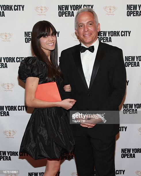 Margaret Anne Williams and husband chef Geoffrey Zakarian attend the 2013 New York City Opera Spring Gala at New York City Center on April 25 2013 in...