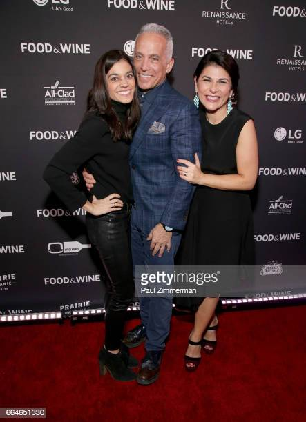 Margaret Anne Williams Geoffrey Zakarian and Nilou Motamed Editor of Time's Inc's Food Wine attend the 2017 Best New Chefs at Rock Reilly's at...