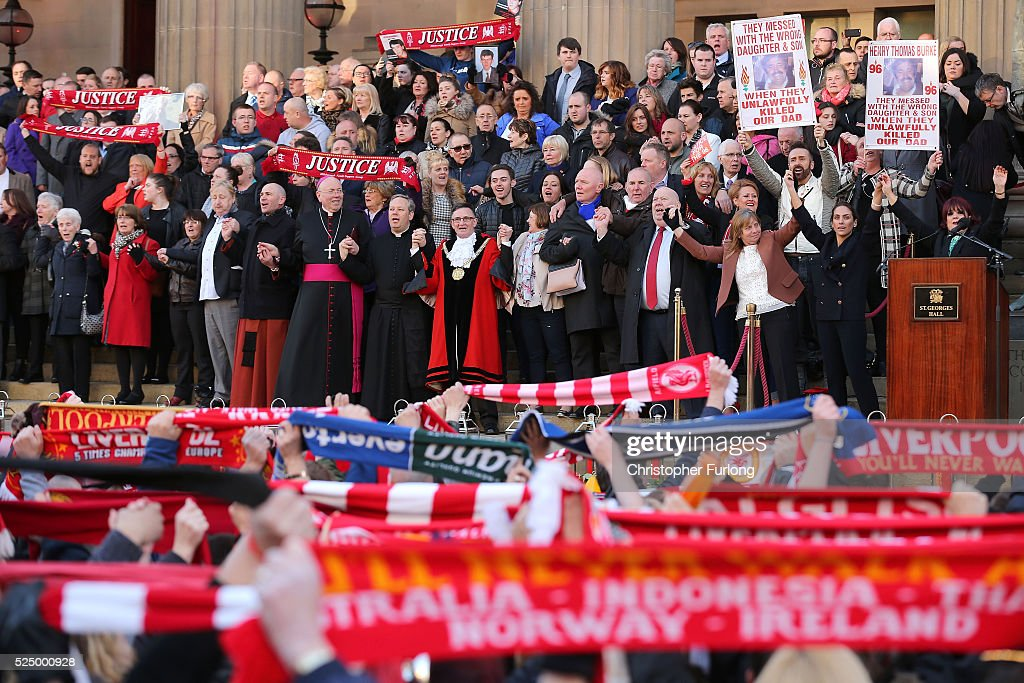 A Vigil Is Held For The 96 Victims Of Hillsborough