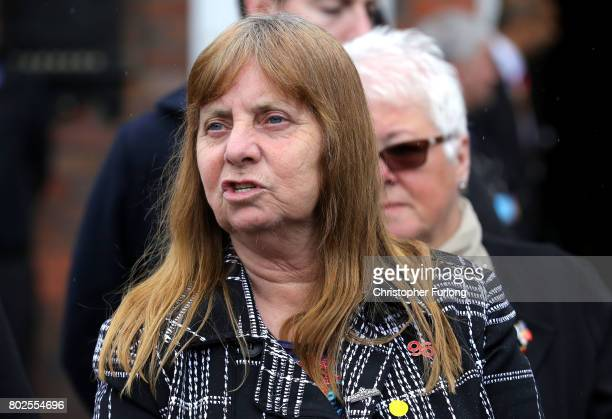 Margaret Aspinall of the Hillsborough Family Support Group addresses the media after the families of the 96 Hillsborough victims were told the...