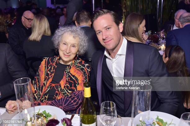Margaret Atwood and Armie Hammer attend the Hammer Museum 16th Annual Gala in the Garden with generous support from South Coast Plaza at the Hammer...