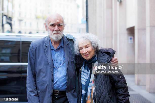 Margaret Atwood and Graeme Gibsoncanadian writer, Mantova, Italy, 7th December 2017.
