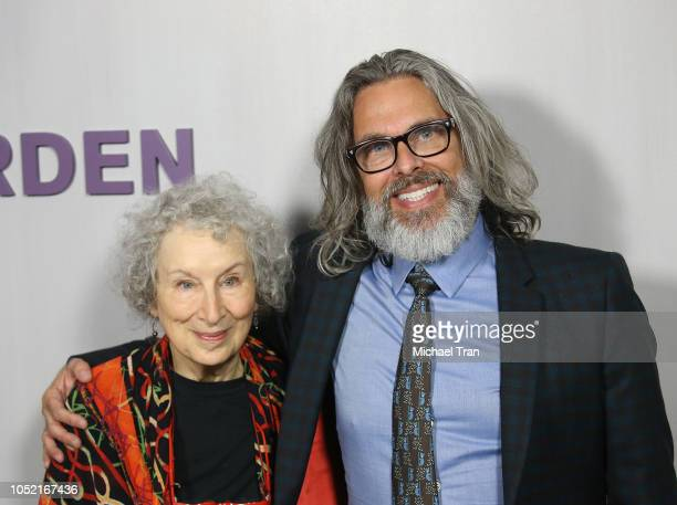 Margaret Atwood and Michael Chabon and attend the 2018 Hammer Museum Gala In The Garden held on October 14 2018 in Los Angeles California