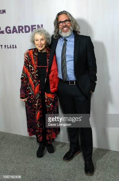 Margaret Atwood and Michael Chabon attend the 2018 Hammer Museum Gala In The Garden on October 14 2018 in Los Angeles California