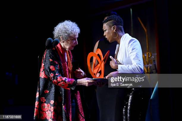 Margaret Atwood and Samira Wiley are seen onstage at the 2019 Glamour Women Of The Year Awards at Alice Tully Hall on November 11 2019 in New York...