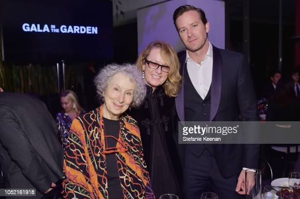 Margaret Atwood Ann Philbin and Armie Hammer attend the Hammer Museum 16th Annual Gala in the Garden with generous support from South Coast Plaza at...