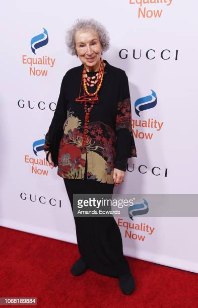Margaret Atwood arrives at Equality Now's Annual Make Equality Reality Gala at The Beverly Hilton Hotel on December 3 2018 in Beverly Hills California
