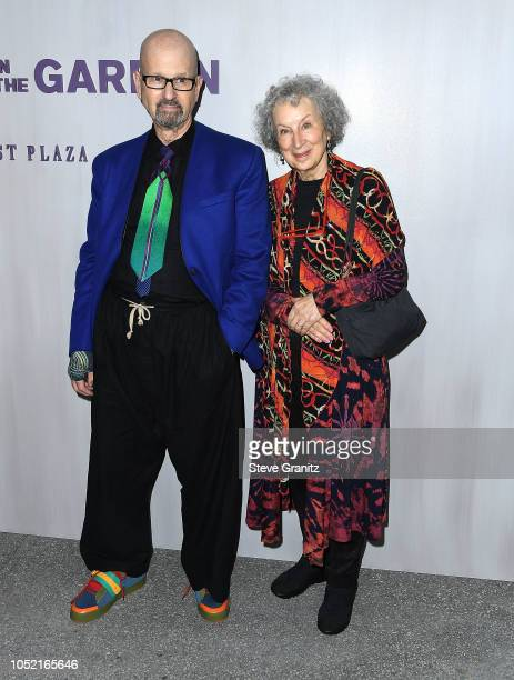 Margaret Atwood arrives at the 2018 Hammer Museum Gala In The Garden on October 14 2018 in Los Angeles California