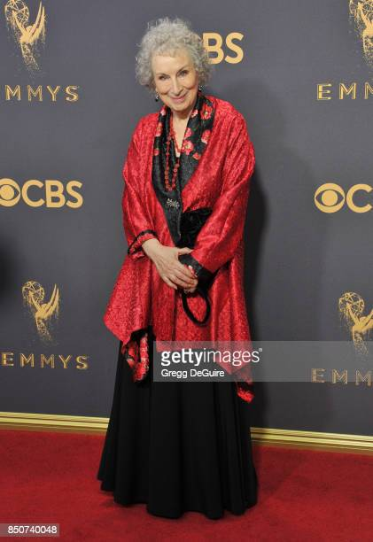 Margaret Atwood arrives at the 69th Annual Primetime Emmy Awards at Microsoft Theater on September 17 2017 in Los Angeles California