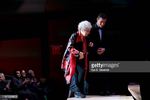 Margaret Atwood arrives onstage at the 2019 Glamour Women Of The Year Awards at Alice Tully Hall on November 11 2019 in New York City Photo by Ilya S...
