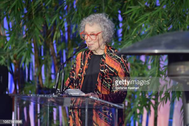 Margaret Atwood attends the Hammer Museum 16th Annual Gala in the Garden with generous support from South Coast Plaza at the Hammer Museum on October...