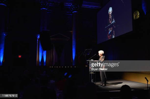 Margaret Atwood speaks on stage during the annual Make Equality Reality Gala hosted by Equality Now on November 19 2019 in New York City