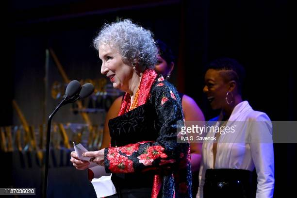 Margaret Atwood speaks onstage at the 2019 Glamour Women Of The Year Awards at Alice Tully Hall on November 11 2019 in New York City Photo by Ilya S...