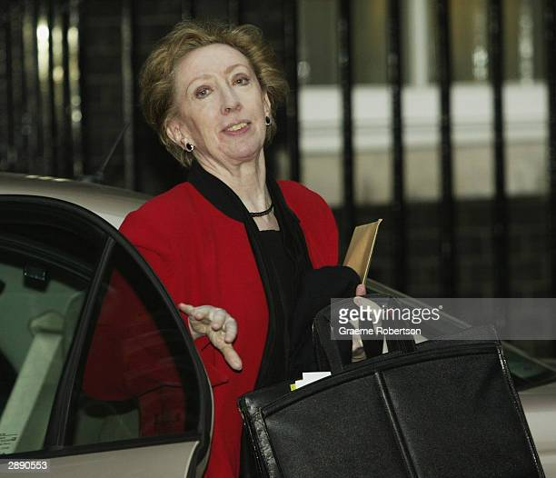 Margaret Beckett Secretary of State for the Environment Food and Rural Affairs leaves 10 Downing Street after the weekly cabinet January 22 2004 in...
