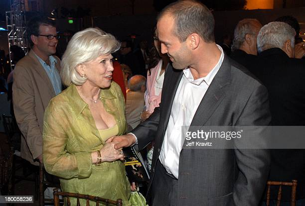 Margaret Blye and Jason Statham during The Italian Job Premiere After Party at El Capitan Parking Lot in Hollywood California United States