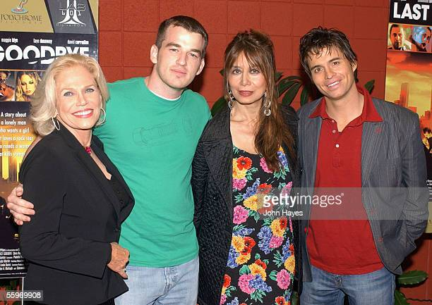 Margaret Blye from left Liam O'Neill Casandra Gava and Chad McKnight arrive to the DVD release party for Last Goodbye October 19 in Los Angeles...