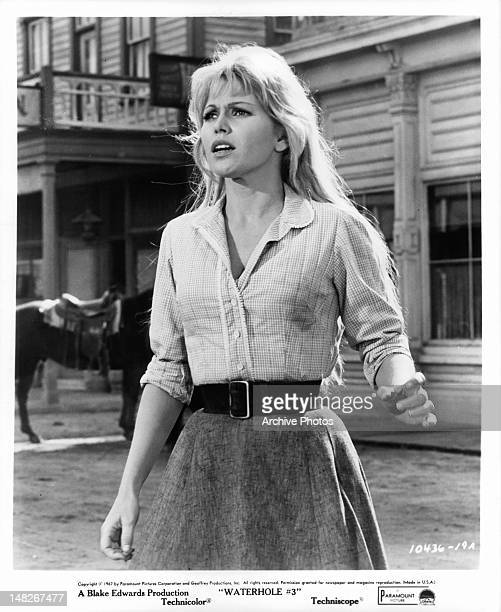 Margaret Blye running into the center square in a scene from the stage play 'Waterhole' 1967