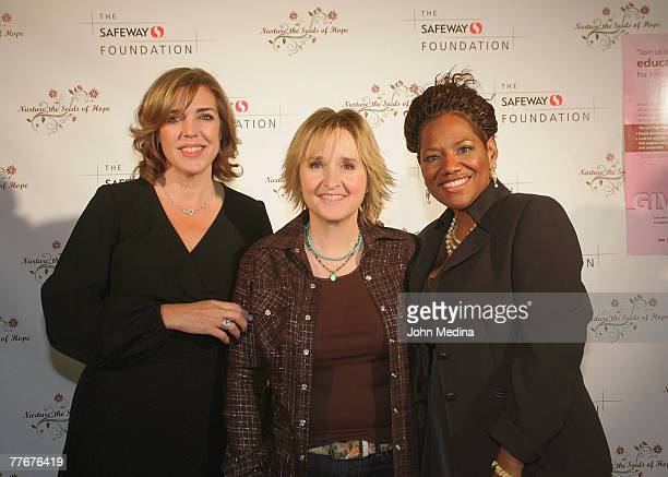 Margaret Bradley and Teena Massingill of Safeway pose for a photo with Melissa Etheridge during the Safeway Foundation Gala 'Nuture the Seeds of...