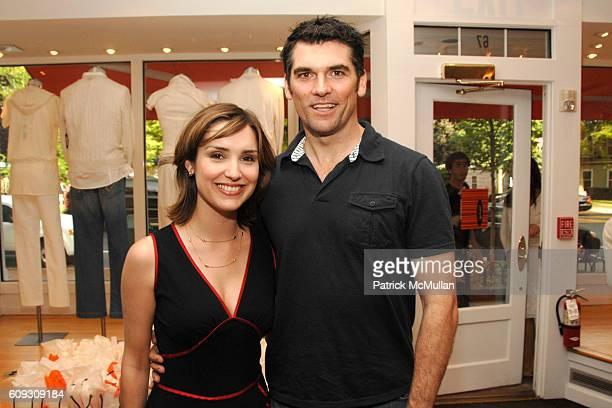 Margaret Brennan and Robert Farrior attend NAVAN Hosts Cocktails at CHRISTOPHER FISCHER at Christoher Fischer Boutique on July 6 2007