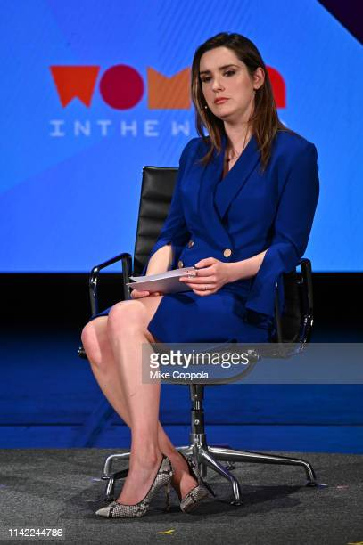 Margaret Brennan speaks during the 10th Anniversary Women In The World Summit at David H Koch Theater at Lincoln Center on April 12 2019 in New York...
