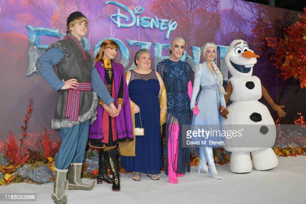 Margaret Campbell and Jamie Campbell attend the European Premiere of Frozen 2 at the BFI Southbank on November 17 2019 in London England