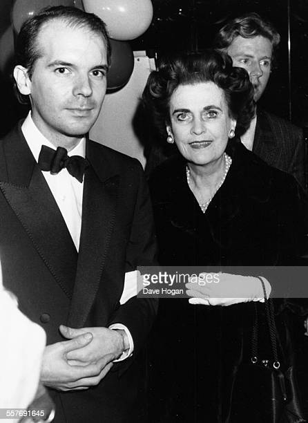 Margaret Campbell Duchess of Argyll attending a concert held by her granddaughters band 'The Business Connection' at the Hippodrome in London...