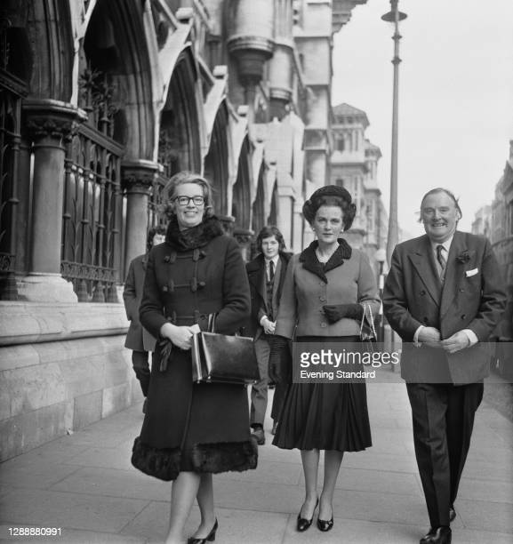 Margaret Campbell, Duchess Of Argyll outside the Royal Courts of Justice in London, UK, 9th November 1971. She is suing her solicitor for negligence.