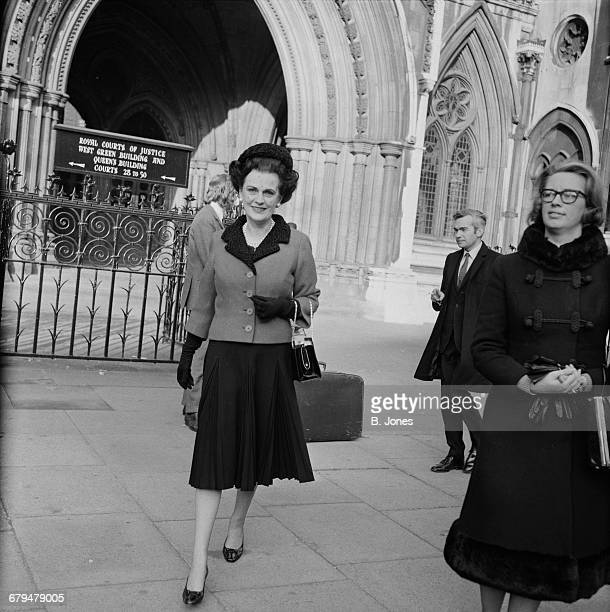 Margaret Campbell Duchess of Argyll outside the Royal Courts of Justice in London UK 9th December 1971 She is suing her solicitor for negligence