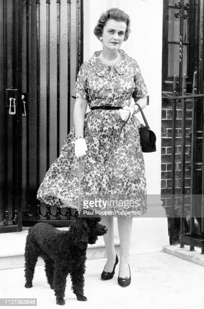 Margaret Campbell Duchess of Argyll third wife of Ian Campbell 11th Duke of Argyll pictured with a pet poodle dog in London in August 1960