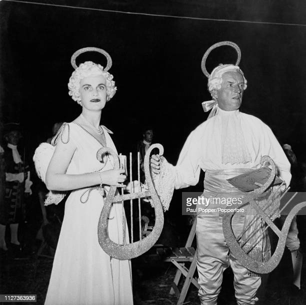 Margaret Campbell formerly Sweeny née Whigham now Duchess of Argyll and Ian Douglas Campbell 11th Duke of Argyll pictured together at a fancy dress...