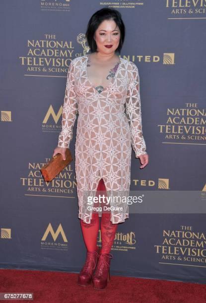 Margaret Cho arrives at the 44th Annual Daytime Emmy Awards at Pasadena Civic Auditorium on April 30 2017 in Pasadena California
